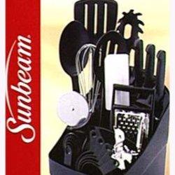 Sunbeam 25-Piece Cook'S Tool Set, Black