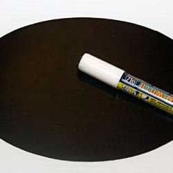 Magnetic Backed Kitchen Or Office Ziggyboard Chalkboard With White Chalk Marker 6 X 9 Inch Ty Euro Oval Shape