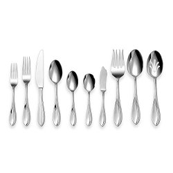 Cuisinart Carbay 45-Piece Stainless Steel Flatware Set