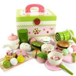 New Shop New Mother Garden Japan Afternoon Tea Cake Kids Pretend Play Kitchen Wooden Toy