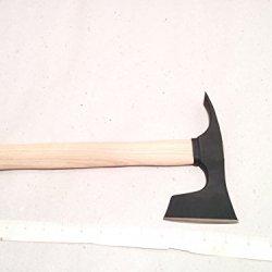Small Bearded Hatchet / Axe / Axt With Adze Blade Bushcraft - Steel 4150