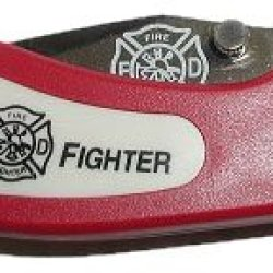 Fire Fighter Pocket Knife (Red)