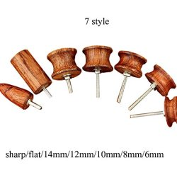Lot Of 7Pcs Skirt Chaser Leather Burnisher Kits, Cocobolo Leather Tool (Slicker)