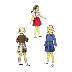 1940S Girls Jacket Skirt Blouse Suit Mccall 7840 Sewing Pattern Size 4