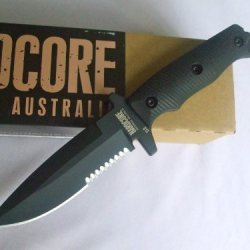 Hardcore Hardware Australia Mfk03-Gvh Tactical Fighting Survival Knife Black G-10