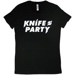 Rtgraphics Women'S Knife Party I T-Shirt X-Large Black