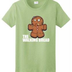 Gingerbread Zombie Ladies T-Shirt Large Pistachio