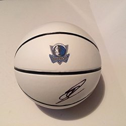 Dallas Mavericks Mvp Dirk Nowitzki Signed Autographed Logo Basketball Coa