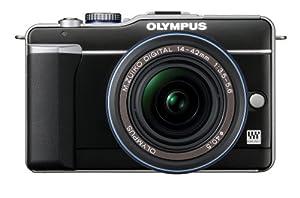 Olympus PEN E-PL1 12.3MP Live MOS Micro Four Thirds Interchangeable Lens Digital Camera with 14-42mm f/3.5-5.6 Zuiko Digital Zoom Lens (Black)