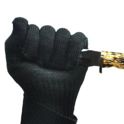 Crazy Shopping Black Guard Against Knife Anti Cut Gloves