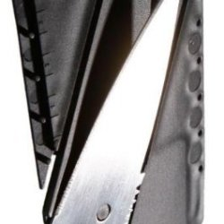 Black Credit Card Knife (Silver Blade) Best Tactical Folding Knives By Muzitao©