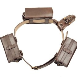 Japanese Arisaka Type 38 Ammo Pouches, Leather Belt, Bayonet Frog And Rear Ammo Pouch
