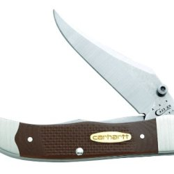 Case Cutlery 36300 Mid-Folding Hunter Knife With G-10 Synthetic Handle, Earth Brown