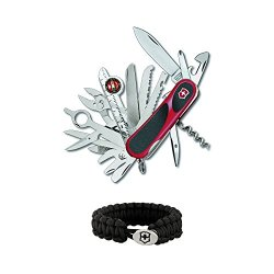 Victorinox Swiss Army Evogrip S54 Swiss Army Knife With Victorinox Paracord Bracelet