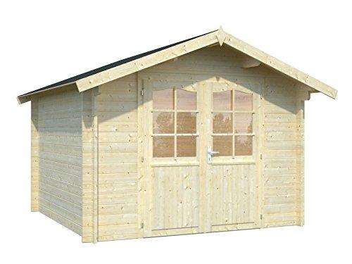 Großes Geräteschuppen aus Holz, Holz Gartenhaus Satteldach