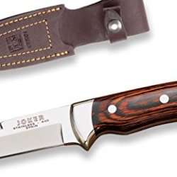 Joker Cr14Usa Hunting Knife And Red Wood Handle, 3.51-Inch