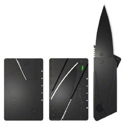 Black Sharp Outdoor Handy Cardsharp Blade Credit Card Folding Knife, Home Improvement Tool