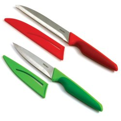Norpro Grip-Ez  2-Piece 3.5-Inch Paring And 5-Inch Tomato/Utility Knife Set