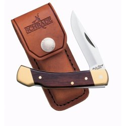 Schrade Uncle Henry'S Lockback, Smokey, Rosewood Handle, Leather