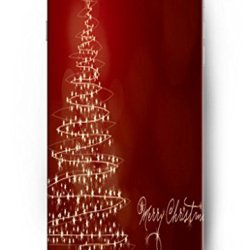 Ouo Unique Hard Skin Holiday Theme Idea Gift 5.5 Inch Iphone 6 Plus Case Christmas Lighting Tree