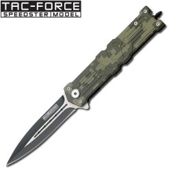 Tac Force Assisted Opening Rescue Punisher Skull Design Folding Stainless Steel Blade Knife Outdoor Survival Camping Hunting - Digital Camo