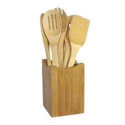 Japanbargain-Bamboo Cooking Utensil Set 7-Piece