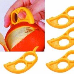 4 Pack Orange Citrus Peeler - Ezpeel Brand 2 Hole Style Tool