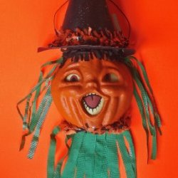 Halloween Decorations - Pumpkin Witch Halloween Wall Hanging By Christopher James - Made In America - Halloween Wall Art