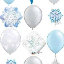 Infinite Frozen Snowflake Party Balloon Decorations Kit
