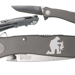 Prayer Military Soldier Custom Engraved Sog Twitch Ii Twi-8 Assisted Folding Pocket Knife By Ndz Performance