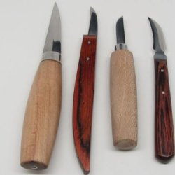 4Pc Wood Carving Whittling Caricature Chip Craft Hobby Knives