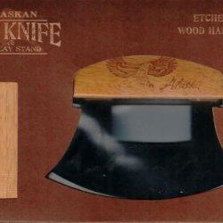 Alaskan Ulu Knife With Etched (Bald Eagle) Handle