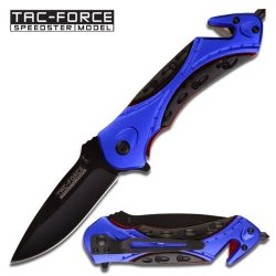 Tac Force Tf-639Bl Assisted Opening Folding Knife 4.5-Inch Closed