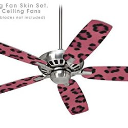 Leopard Skin Pink - Ceiling Fan Skin Kit Fits Most 42 Inch Fans (Fan And Blades Sold Separately)