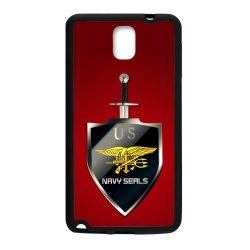 Jdsitem U.S. Navy Seals Simple Red Pattern Case Cover Sleeve Protector For Phone Samsung Galaxy Note 3 (Laser Technology)