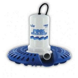 Rule 1800 Pool Cover Pump W/Leaf Protector - 24' Cord