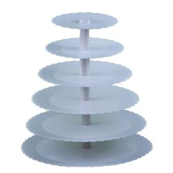 Plastic 6 Tiers Cake Stand Detachable Cupcake Shelf Party Use