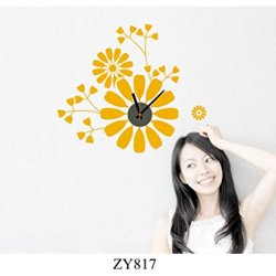 Zooyoo Knife And Fork Removable Wall Clock Stickers Decorative Wall Clock