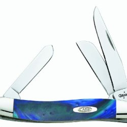 Case Cutlery 9318Aq Aquarius Medium Stockman Corelon Pocket Knife With Stainless Steel Blades, Blue/Green