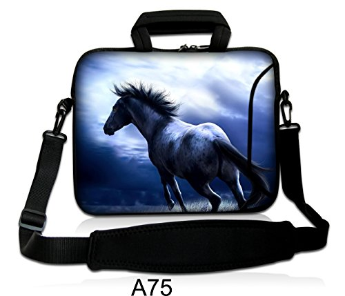 Waterfly-Horse-Warrior-16-17-173-174-inch-Laptop-Notebook-Computer-Netbook-PC-Soft-Shoulder-Bag-Messenger-Bag-Case-Holder-Protector-Pack-With-Extra-Side-Pocket-For-Apple-MacBook-Pro-173-Dell-Precision