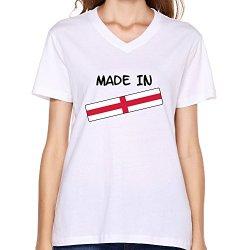 Goldfish Women'S Awesome 100% Cotton Made England T-Shirt White Us Size M