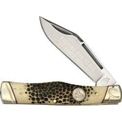Colt Buckshot Bone Gunstock Folding Knife, 2.75In, Stainless Clip Blade, Buck Kc01 Buckshot Bone