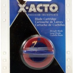 X-Acto Replacement Blade Cartridge For Free Form Rotary Cutter, Straight Blade Cartridge, Silver (26520)