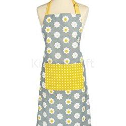 Kitchen Craft Retro Flower Apron - Yellow 90 X 70Cm