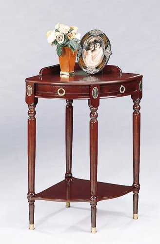 Image of BEAUTIFUL CORNER CONSOLE TABLE / TELEPHONE STAND (VF_AZ02-705)