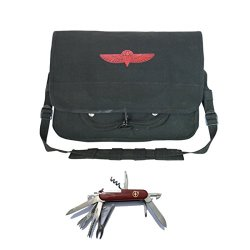 Fox Outdoor Israeli Paratrooper Bag - With Free Swiss Style Pocket Knife (Black)