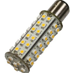 Brightech - Superbright Ba15S Led Light Bulb Replacement - Warm White Color - 2Nd Generation With 66 Led'S - Single Contact Base - 10-30V Dc - Brighten Up Your Yard Or Rv For Added Safety And Assurance!