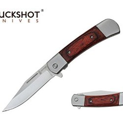 "Buckshot 8"" Spring Assisted Open Folding Classic Pocket Knife"
