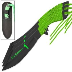 Zombie Killer Death Hunter Scimitar Throwing Knife Set
