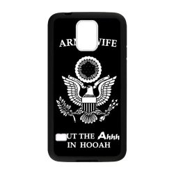 Jdsitem Unique Proud Army Wife Design Case Cover Sleeve Protector For Phone Samsung Galaxy S5 (Laser Technology)